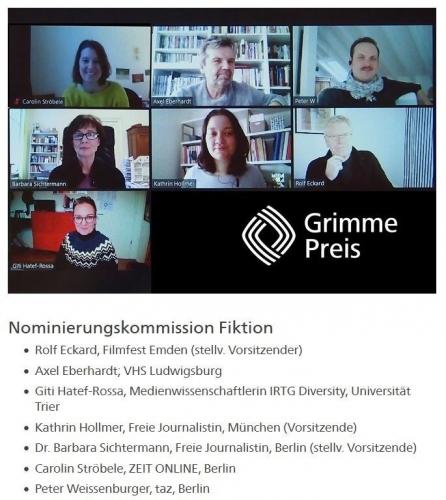Grimme Award 2021 - Nominating<br>Commission Fiction