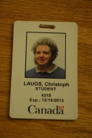 "Christoph Laugs' ""Student"" Pass"