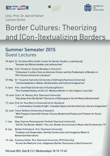 Border Cultures Lectures 2015