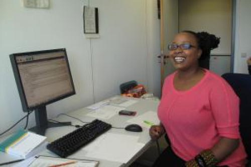 Rahab Njeri in her office