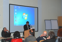 Gilles Dupuis during his lecture in Grainau