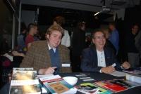 The IRTG's L. Grimard (Montréal) and C. Laugs (Trier) welcoming participants