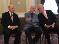 P. Klaus mit Ph. Couillard (l.) und M. Paquet (l.)