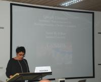 Astrid Fellner delivering her lecture