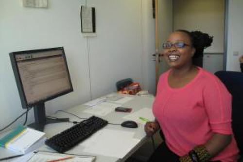Rahab Njeri in her office