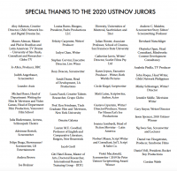 2020 Jurors for the Sir Peter Ustinov <br>Television Scriptwriting Award