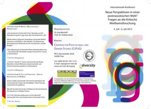 Critical Whiteness Studies - Programme I